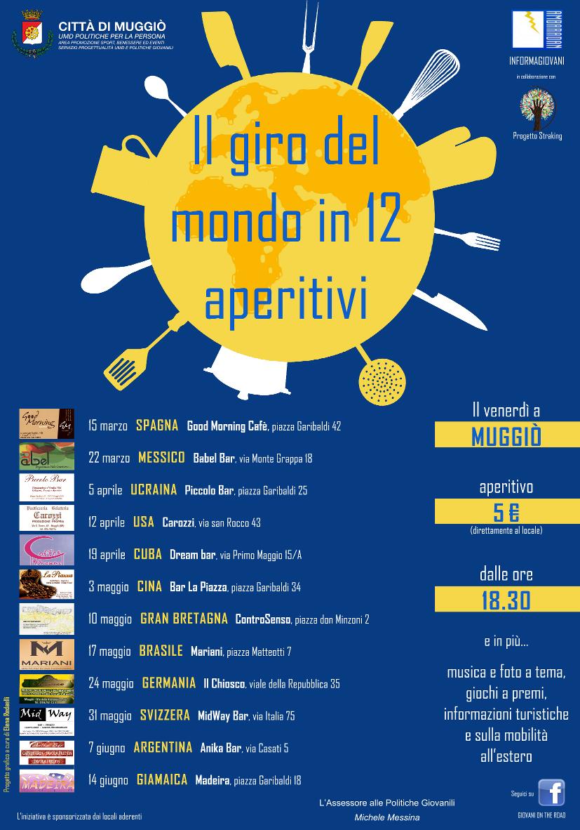 giro del mondo in 12 aperitivi a Muggiò