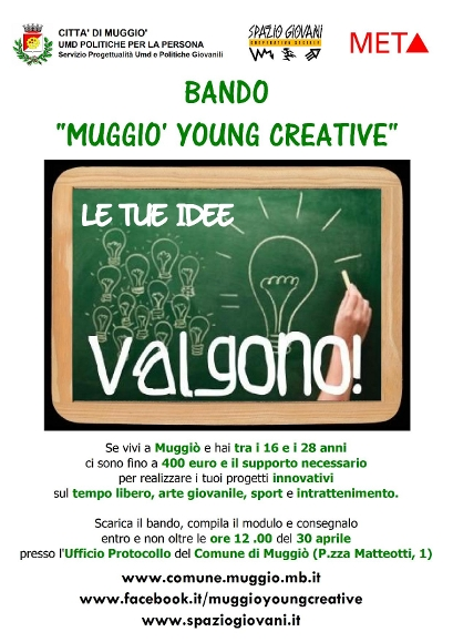 bando Young Creative Muggiò