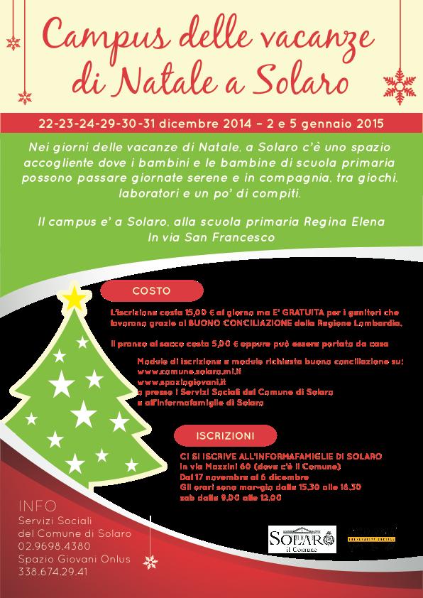 Campus Vacanze di Natale a Solaro