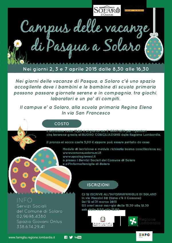 Campus di Pasqua Solaro per la scuola primaria