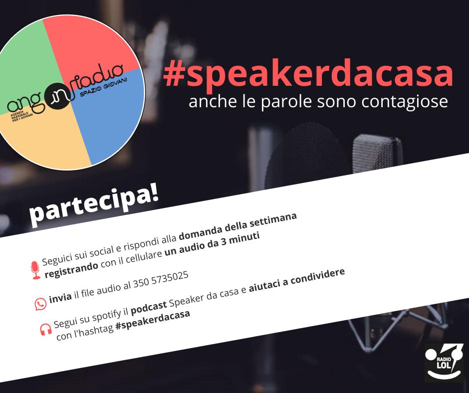 #SpeakerdaCasa: le radio di Spazio Giovani si mobilitano!